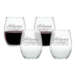 Carved Solutions Adams Stemless Wine Tumblers (Set of 4)