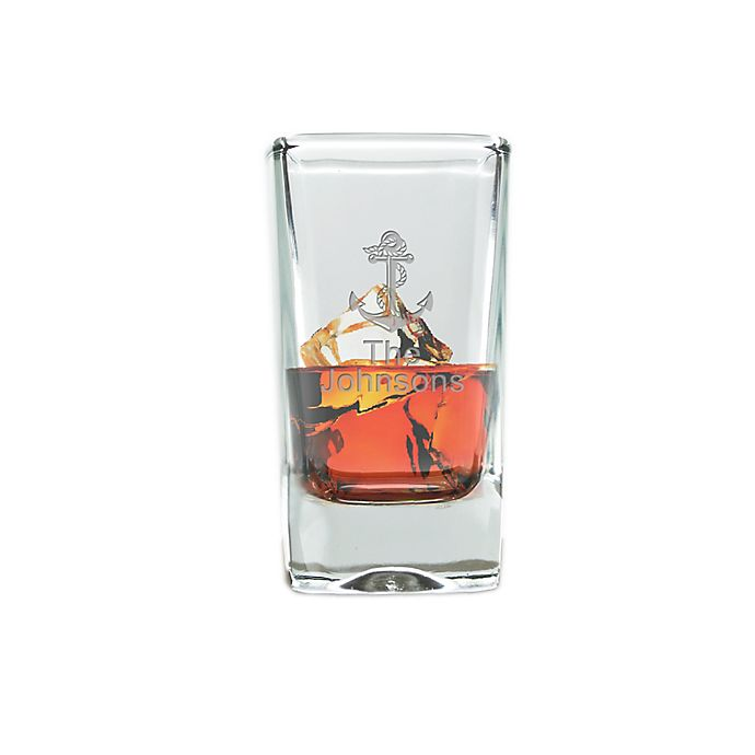 Alternate image 1 for Carved Solutions Anchor Clear Glass Shot/Dessert Glass