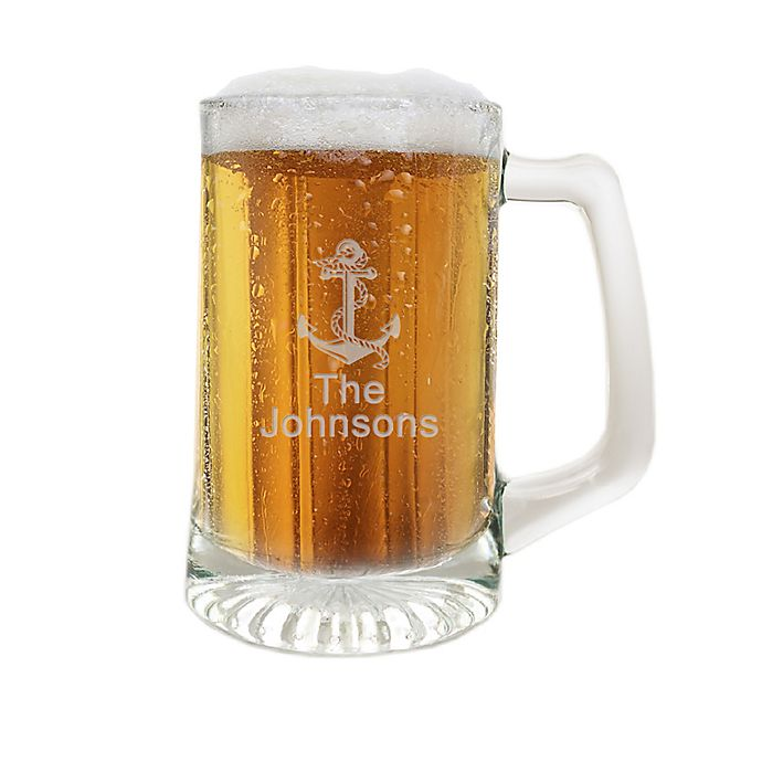 Alternate image 1 for Carved Solutions Anchor Clear Glass Sports Mug