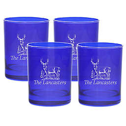 Carved Solutions Deer Double Old Fashioned Glasses (Set of 4)