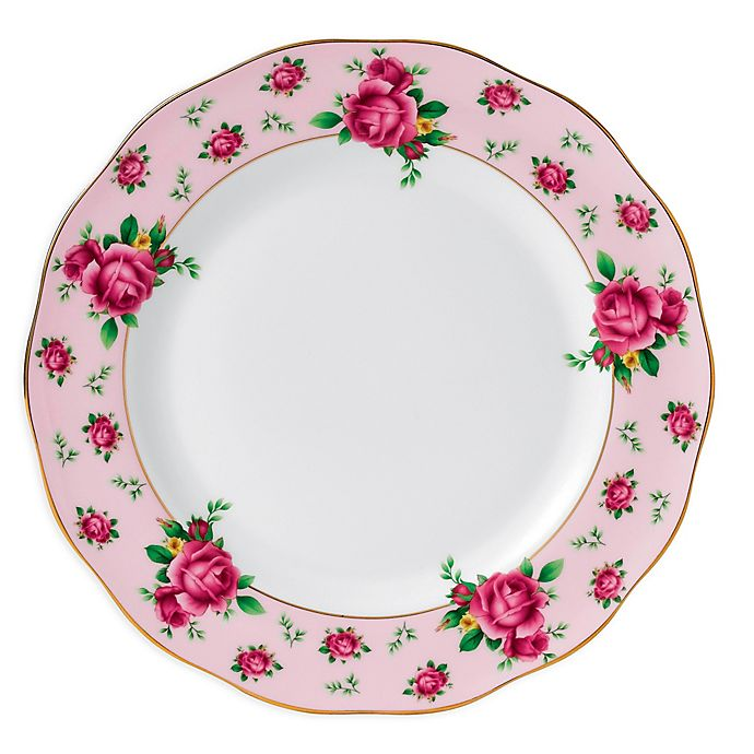 Alternate image 1 for Royal Albert New Country Roses Vintage Dinner Plate in Pink