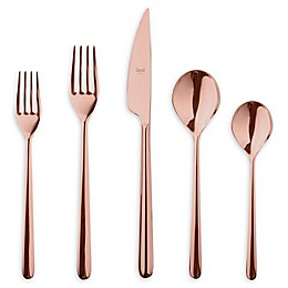 Mepra Linea Bronze 5-Piece Flatware Place Setting