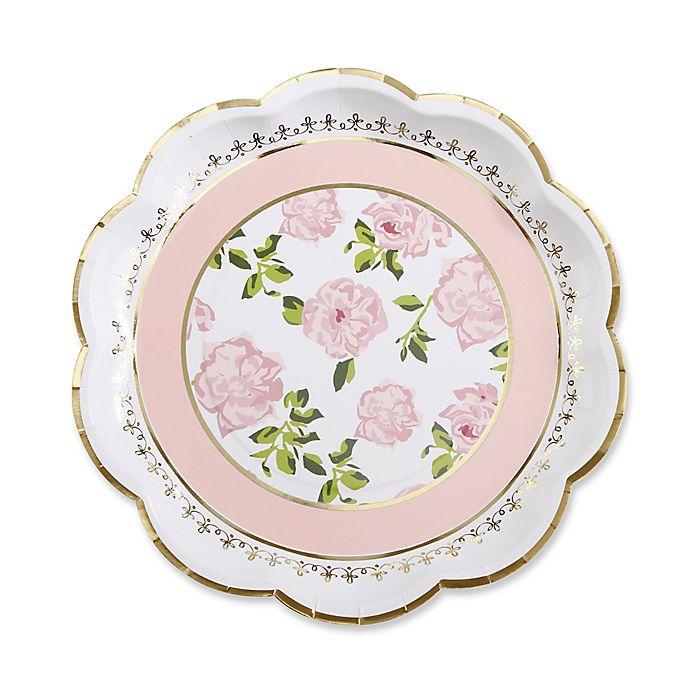 Alternate image 1 for Kate Aspen® 24-Pack Tea Time Whimsy Paper Plates