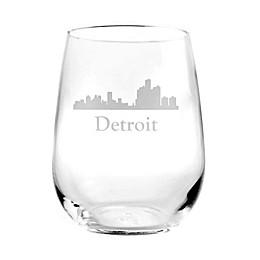 Rolf Glass Detroit Skyline Stemless Wine Glass