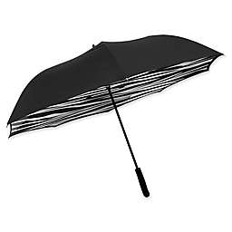 BetterBrella™ Zebra Print Umbrella with Reverse Open/Close Technology