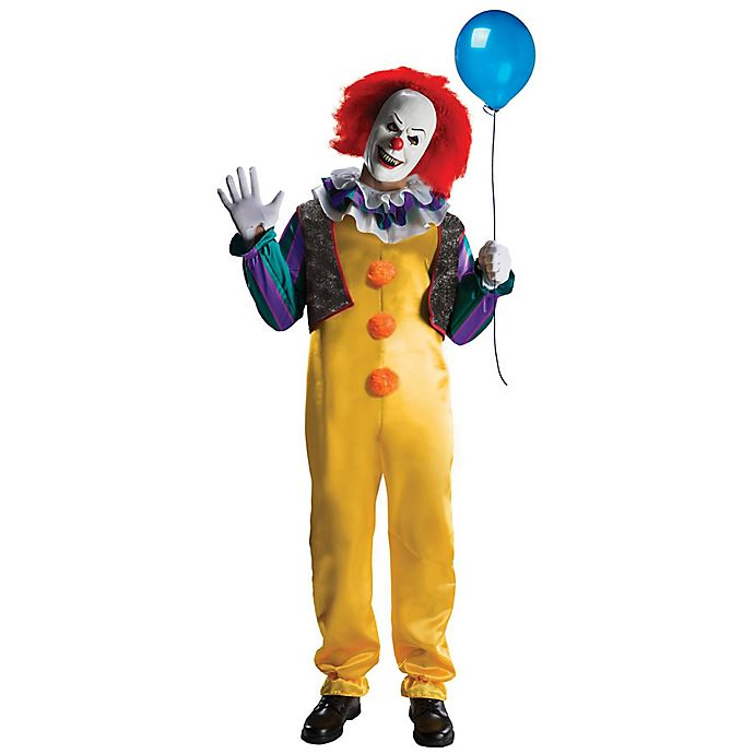 Alternate image 1 for IT Deluxe Pennywise Clown Adult Men's Costume