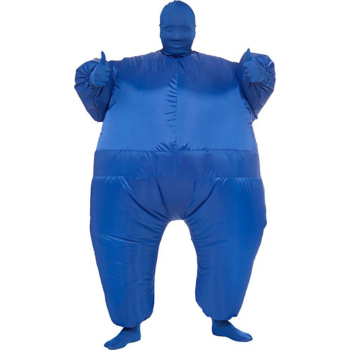 Alternate image 1 for Inflatable Blue Suit Adult Costume