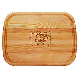 Carved Solutions Mr. & Mrs. 21-Inch x 15-Inch Everyday Board