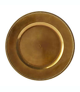 Plato base decorativo en bronce