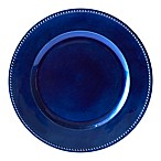 Beaded Charger Plates in Blue (Set of 6)