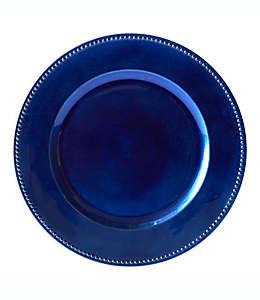 Plato base decorativo en azul