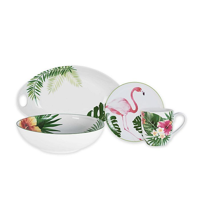Alternate image 1 for Everyday White® by Fitz and Floyd® Tropical Dinnerware Collection