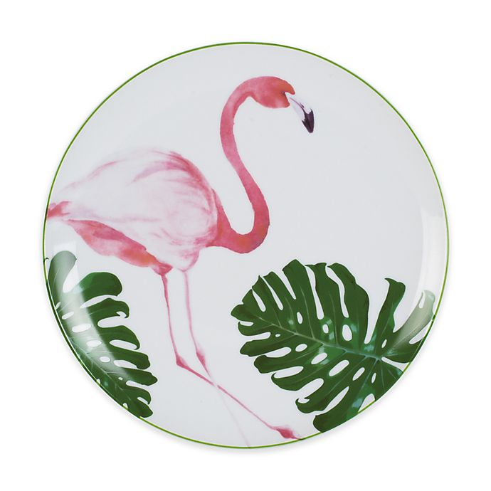 Alternate image 1 for Everyday White® by Fitz and Floyd® Flamingo Salad Plate