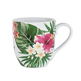 Everyday White® by Fitz and Floyd® Tropical Leaf Mug