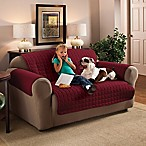 Innovative Textile Solutions Microfiber Sofa Protector in Burgundy