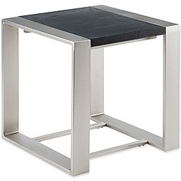 Madison Park Eastwood End Table in Black/Silver
