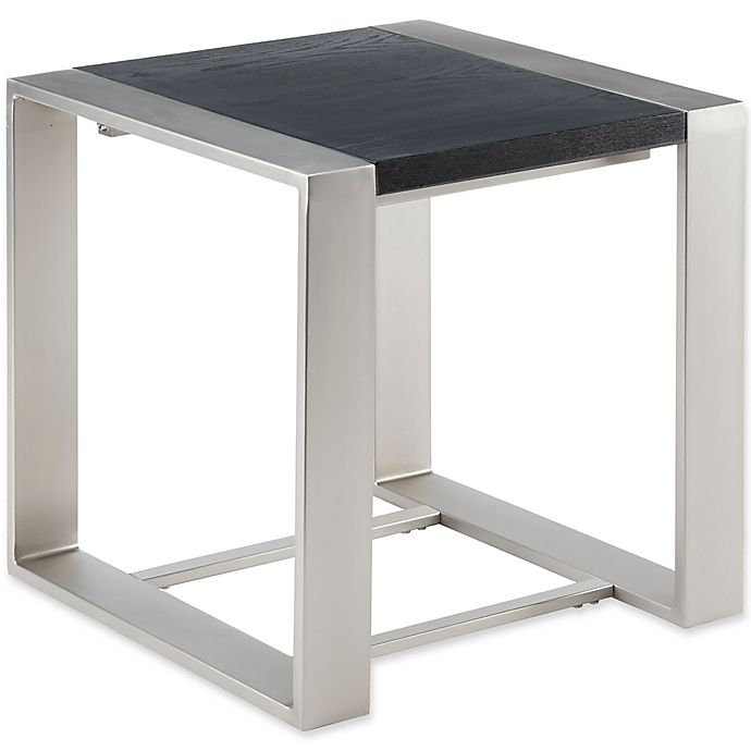 Alternate image 1 for Madison Park Eastwood End Table in Black/Silver