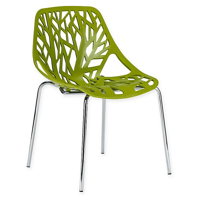 Alternate image 1 for Poly and Bark Birds Nest Dining Side Chair in Green
