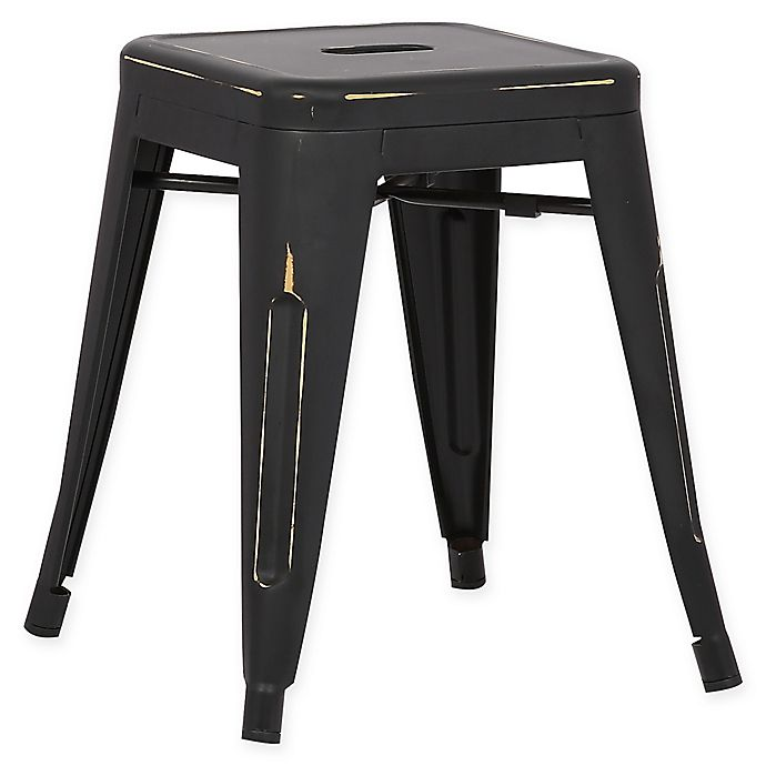 Alternate image 1 for Poly and Bark Trattoria 18-Inch Stool in Distressed Black