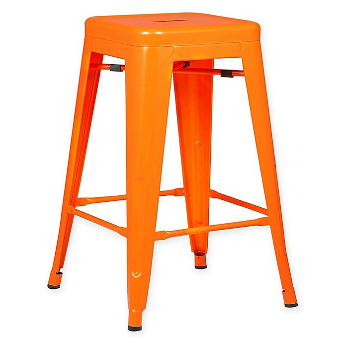 Alternate image 1 for Poly and Bark Trattoria 24-Inch Counter Height Stool in Orange