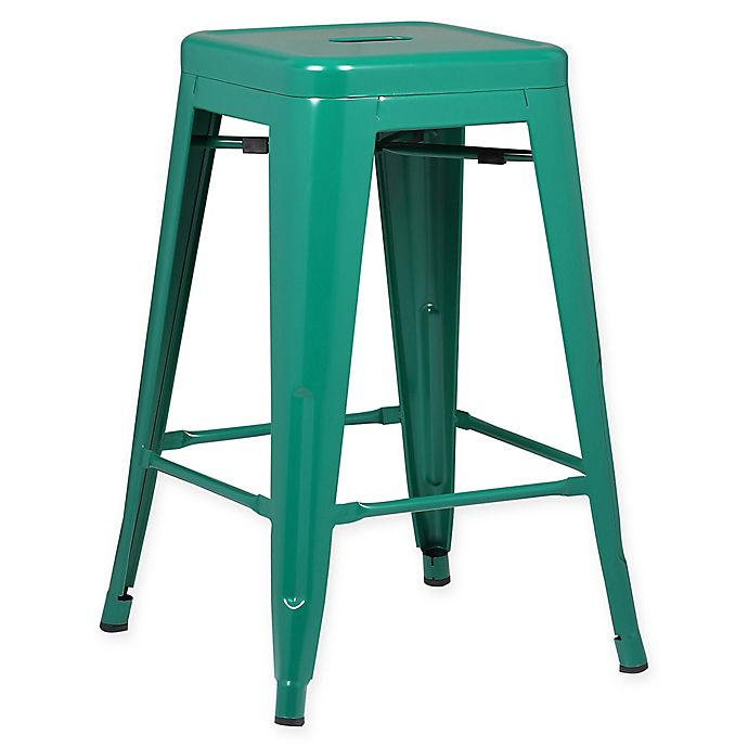 Alternate image 1 for Poly and Bark Trattoria 24-Inch Counter Height Stool in Dark Green