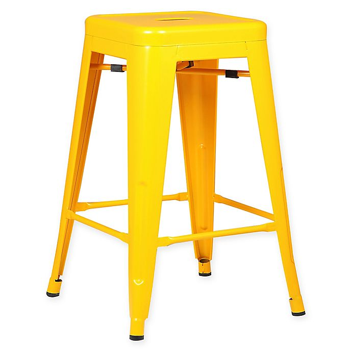 Alternate image 1 for Poly and Bark Trattoria 24-Inch Counter Height Stool in Yellow