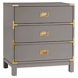 iNSPIRE Q® Kally Campaign 3-Drawer Nightstand in Grey