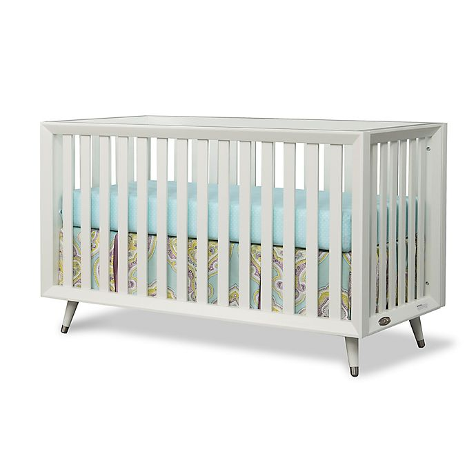 Alternate image 1 for Child Craft™ Notting Hill 4-in-1 Convertible Euro Crib in Matte White