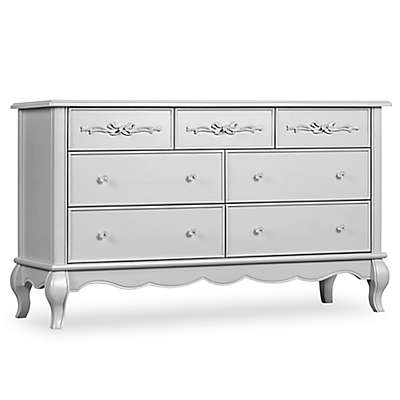 evolur™ Aurora 7-Drawer Double Dresser in Akoya Grey Pearl