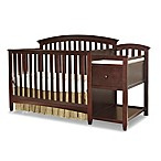 Westwood Design Montville 4-in-1 Convertible Crib and Changer Combo in Chocolate Mist