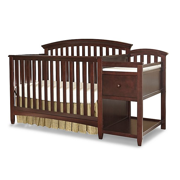 Alternate image 1 for Westwood Design Montville 4-in-1 Convertible Crib and Changer Combo in Chocolate Mist