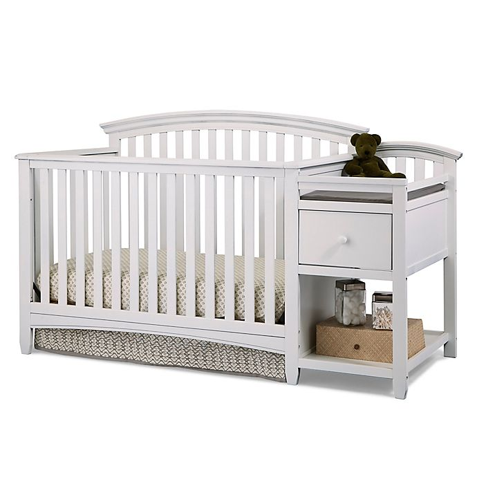 Alternate image 1 for Imagio Baby by Westwood Designs Montville Collection 4-in-1 Crib and Changer in White