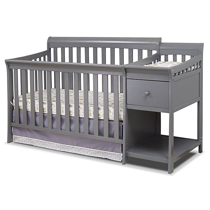 Alternate image 1 for Sorelle Florence 4-in-1 Crib and Changer in Grey
