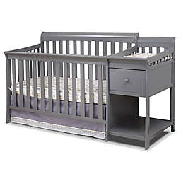 Sorelle Florence 4-in-1 Crib and Changer in Grey