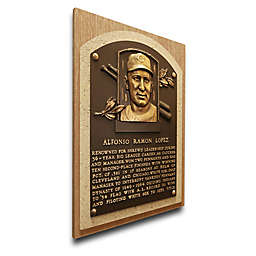 MLB Cleveland Indians Al Lopez That's My Ticket Hall of Fame Canvas Plaque