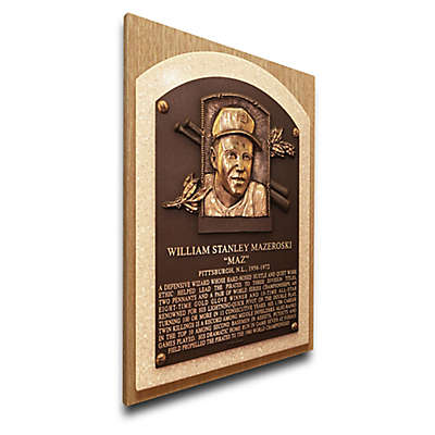 MLB Pittsburgh Pirates Bill Mazeroski That's My Ticket Hall of Fame Canvas Plaque