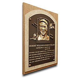 MLB Cleveland Indians Bob Feller That's My Ticket Hall of Fame Canvas Plaque