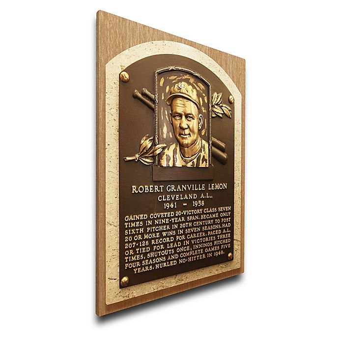 Alternate image 1 for MLB Cleveland Indians Bob Lemon That's My Ticket Hall of Fame Canvas Plaque