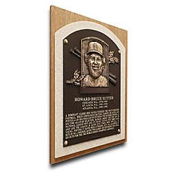 MLB St. Louis Bruce Sutter That's My Ticket Hall of Fame Canvas Plaque