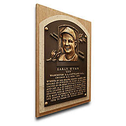 MLB Cleveland Indians Early Wynn That's My Ticket Hall of Fame Canvas Plaque