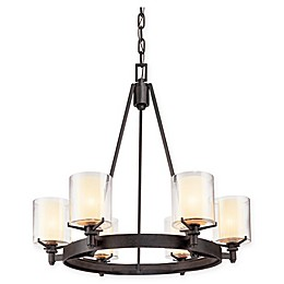 Troy Lighting Arcadia Ceiling Mount Chandelier in French Iron