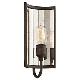 Troy Lighting Brooklyn 1-Light Small Wall Sconce in Brooklyn Bronze