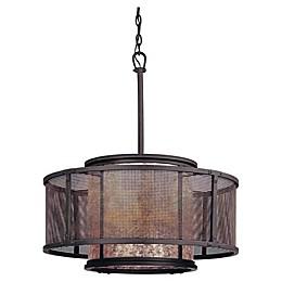 Troy Lighting Copper Mountain 6-Light Ceiling Pendant Light in Bronze