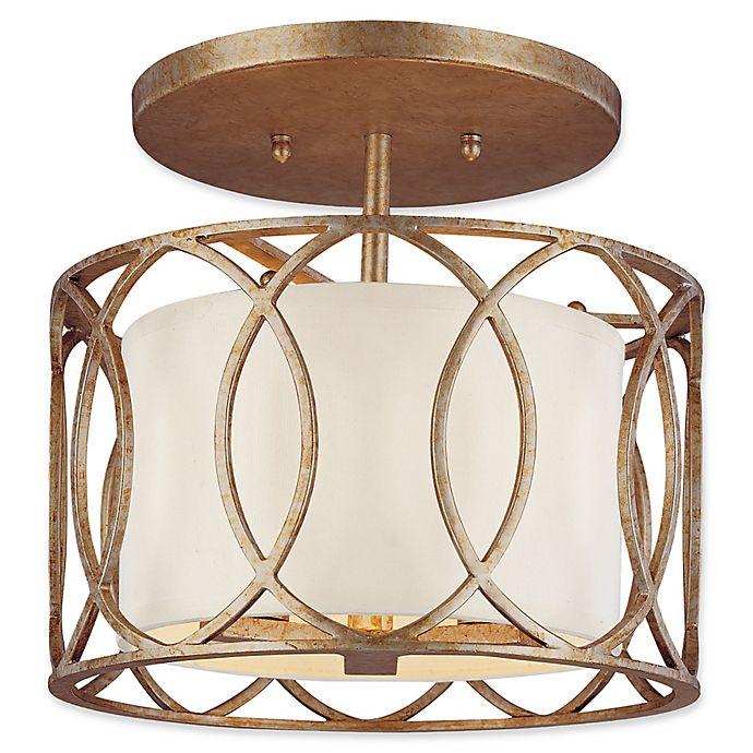 Alternate image 1 for Troy Lighting Sausalito 3-Light Semi-Flush Mount Ceiling Light in Silver Gold