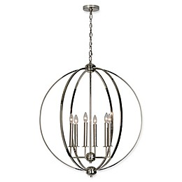 Ren-Wil Sullivan 6-Light Ceiling Pendant in Polished Nickel