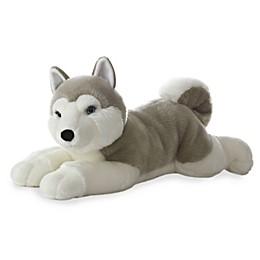 Aurora World® Super Flopsies Yukon Husky Plush Toy in Grey/White