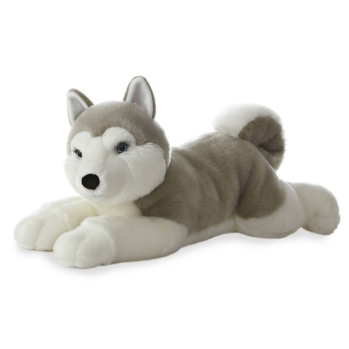 Alternate image 1 for Aurora World® Super Flopsies Yukon Husky Plush Toy in Grey/White