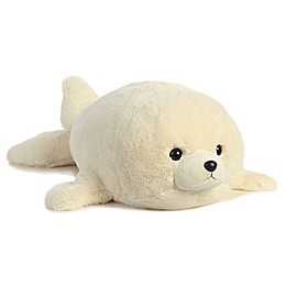 Aurora® Super Flopsies Baby Harp Seal Plush Toy in White