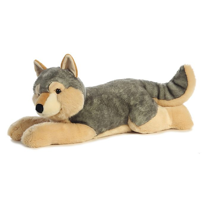 Alternate image 1 for Aurora World® Super Flopsies Wolf Plush Toy in Grey/Tan