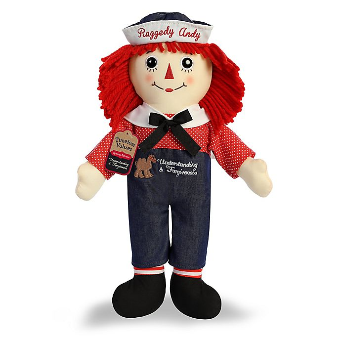 Alternate image 1 for Aurora World® Raggedy Andy Plush Toy in Navy